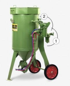 Пескоструйный аппарат contracor dbs-100 rc, dbs-200 rc с дистанционным управлением