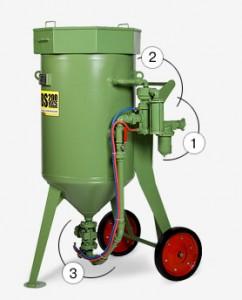 Пескоструйный аппарат contracor dbs-100 rcs, dbs-200 rcs с дистанционным управлением и дозатором